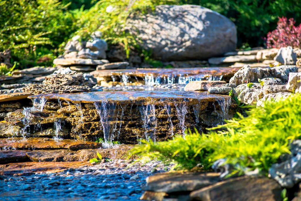 Teichbau und Wasserspiele